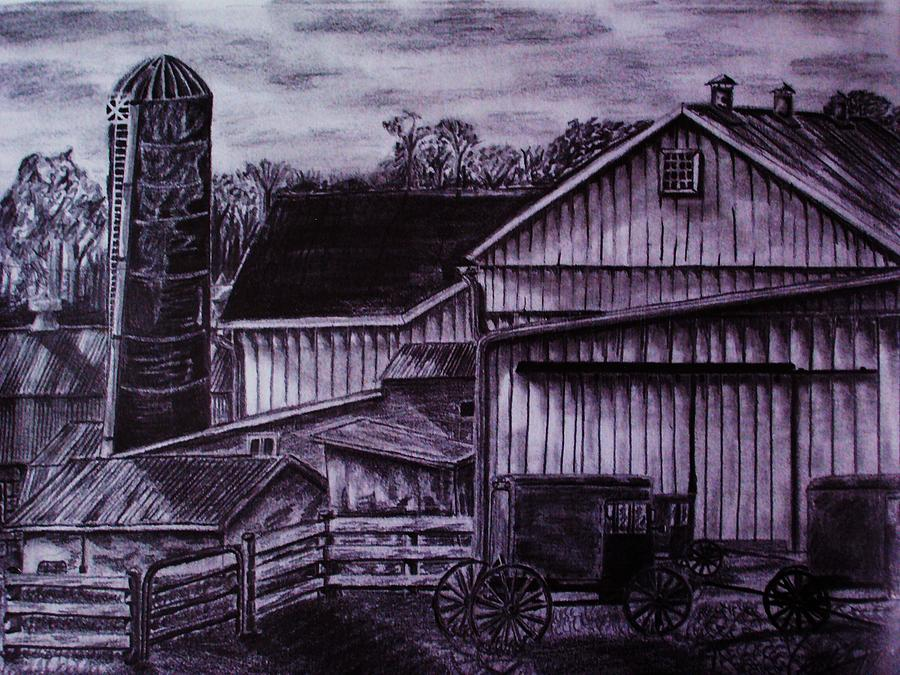 Landscape Drawing - As It Was by Jeremy Satteson