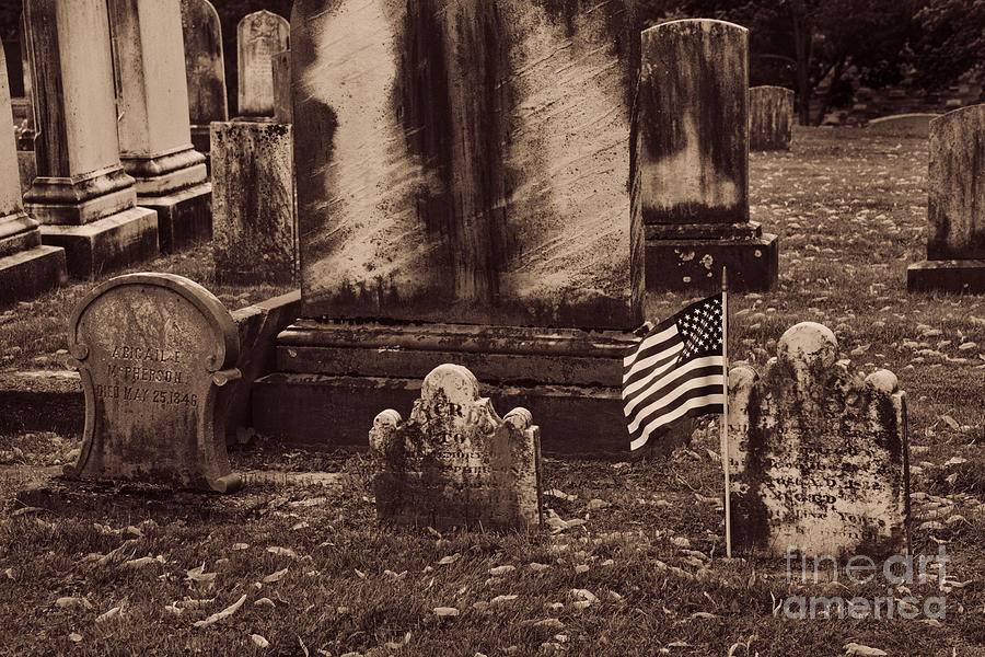 Cemetery Photograph - As Old As It Looks by Paul W Faust - Impressions of Light