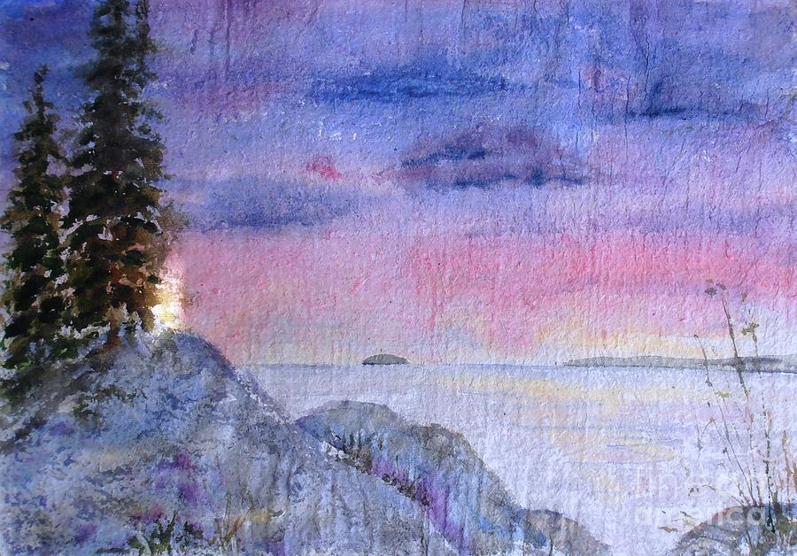 As the Sun Sets by Diane Kirk