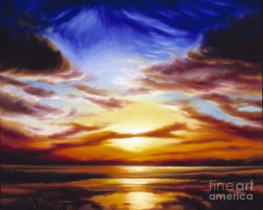 Skyscape Painting - As The Sun Sets by James Christopher Hill