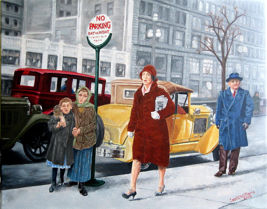 Urban Painting - As Then Now Two by Cecil Williams