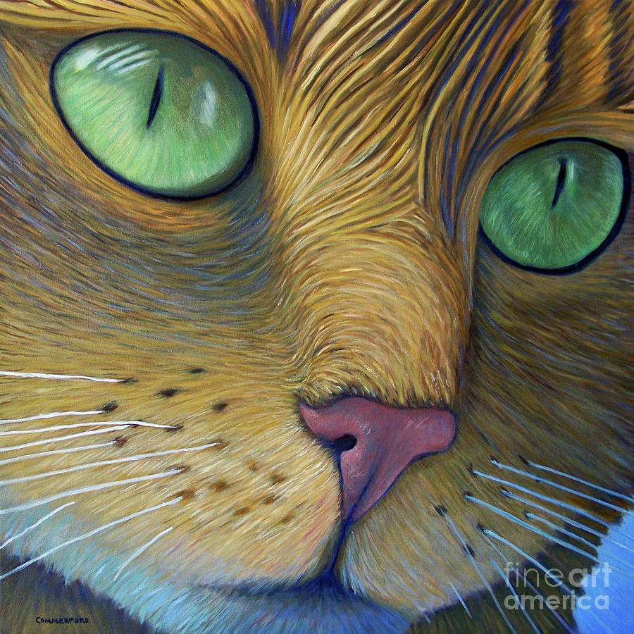 Cat Painting - As Time Goes By by Brian  Commerford