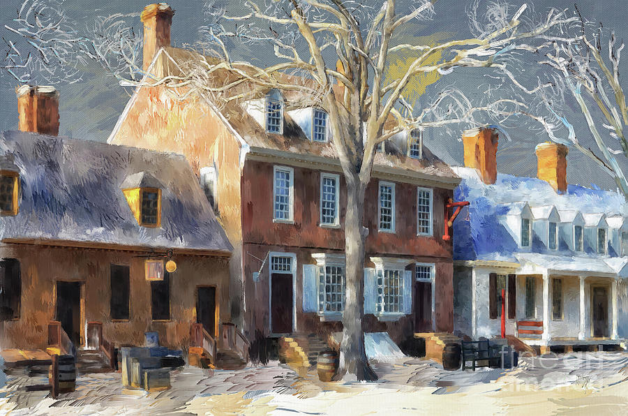 Williamsburg Digital Art - As Winter Melts Into Spring by Lois Bryan
