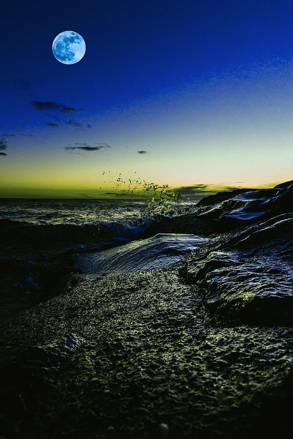 Night Painting - Asbury Park, United States  3 by Celestial Images