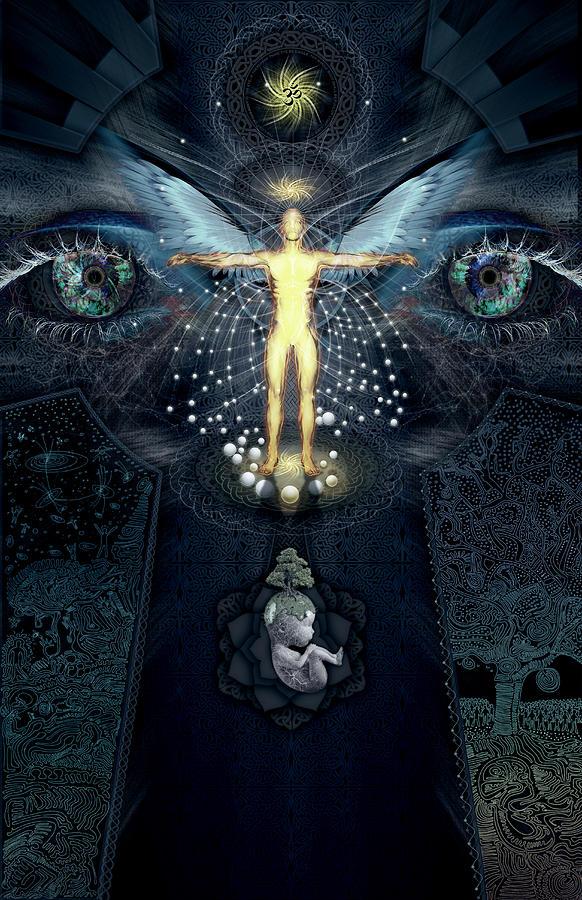 Spirituality Digital Art - Ascension And Rebirth by Alex Polanco
