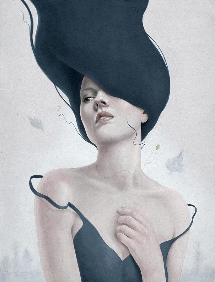 Woman Digital Art - Ascension by Diego Fernandez
