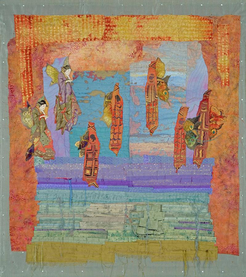 Quilt Tapestry - Textile - Ascension Of The Butterfly Women by Roberta Baker