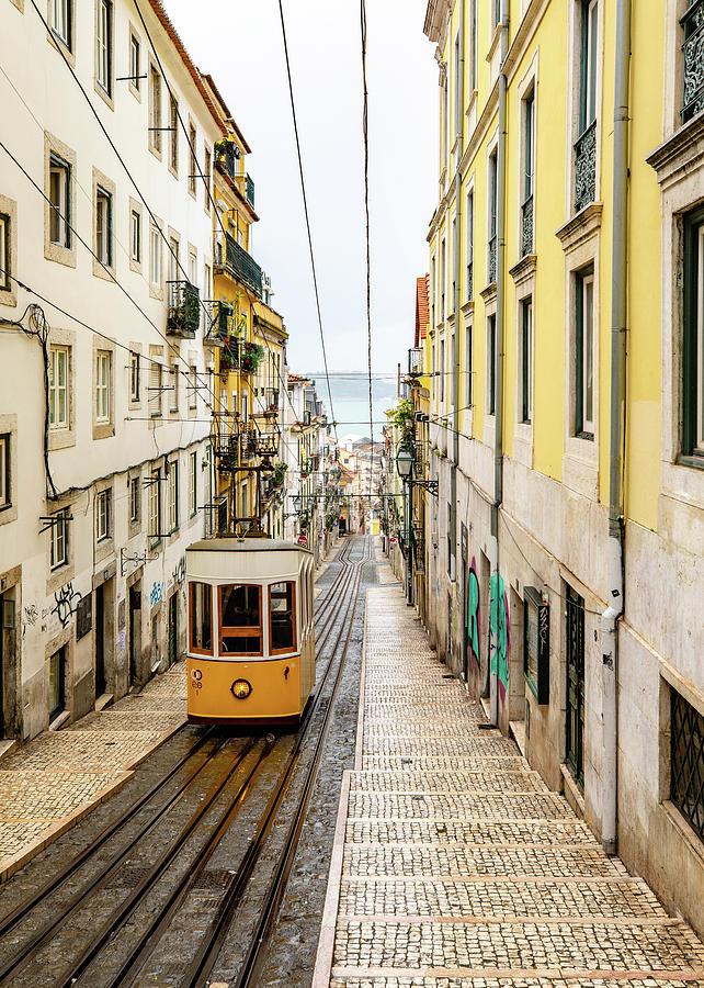 Cityscape Photograph - Ascensor de Bica by M C Hood