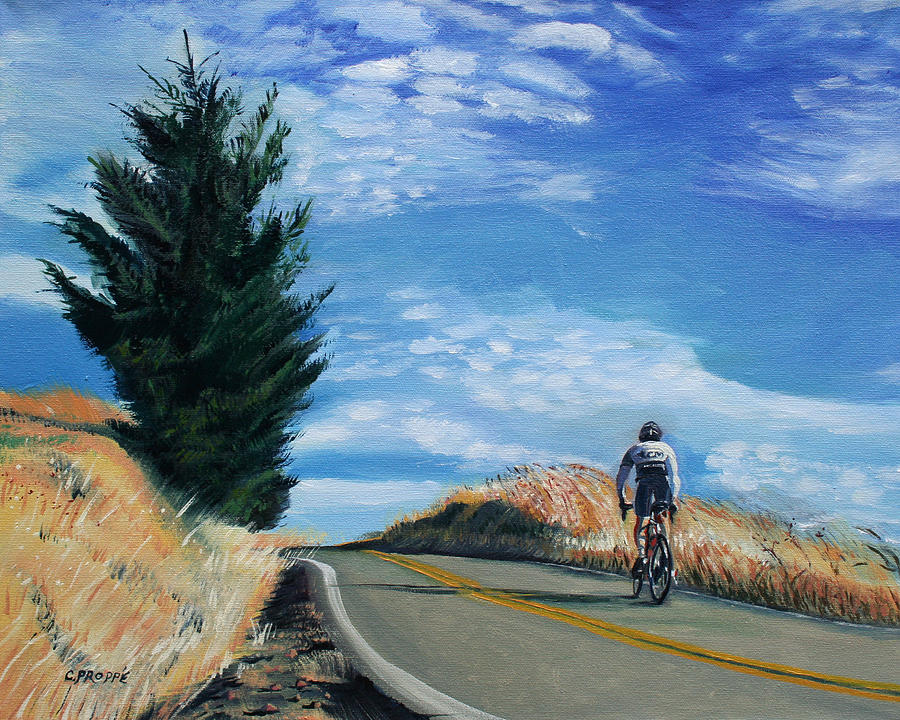 Bike Painting - Ascent by Colleen Proppe