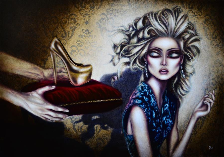 Cinderella Painting By Tiago Azevedo Pop Surrealism Art Painting