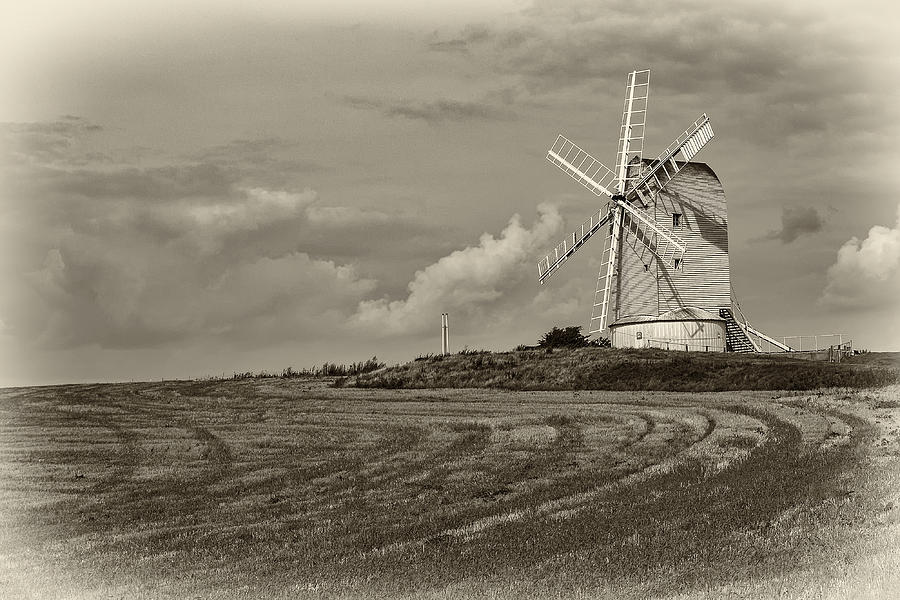 Windmills Photograph - Ascombe Mill by Len Brook