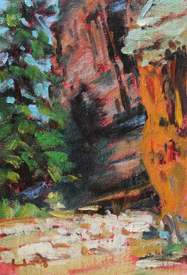 Ashdown Gorge Of Zion Painting by Owen Hunt