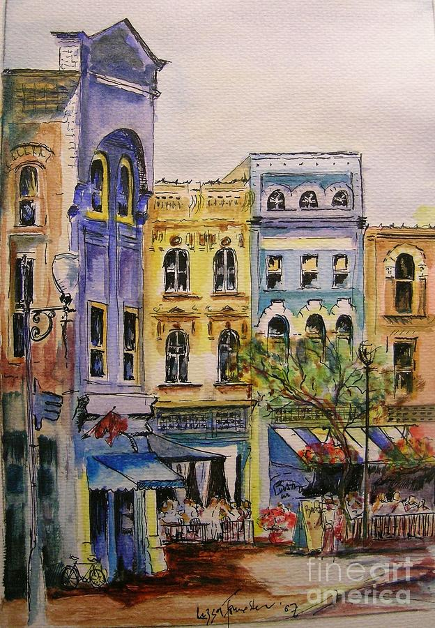 Townhouses Painting - Asheville by Lizzy Forrester