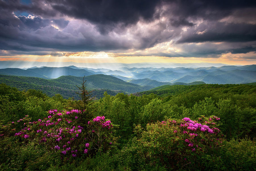 Asheville Photograph - Asheville Nc Blue Ridge Parkway Scenic Landscape Photography by Dave Allen