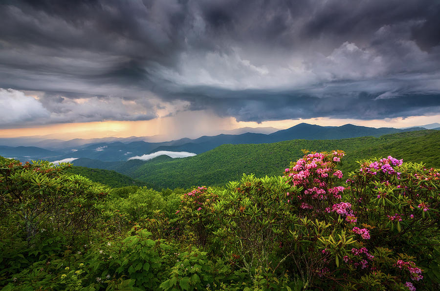 Asheville Photograph - Asheville North Carolina Blue Ridge Parkway Thunderstorm Scenic Mountains Landscape Photography by Dave Allen
