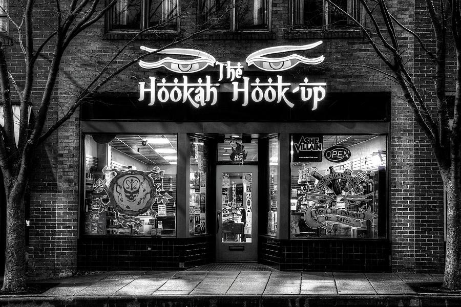 Asheville North Carolina Hookah Shop In Black And White