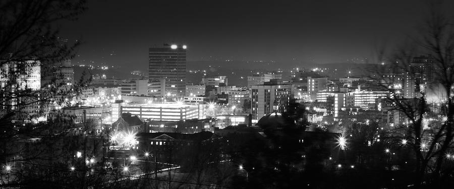 Asheville Photograph - Asheville North Carolina Skyline by Gray  Artus