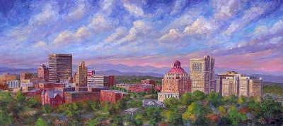 Asheville Sky - Downtown Asheville Nc Painting by Jeff Pittman