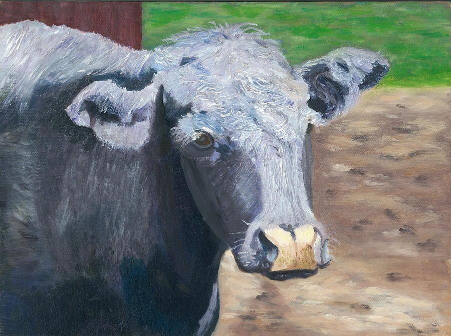 Bull Painting - Ashley by Paula Emery