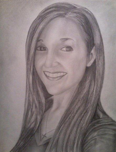 Portrait Drawing - Ashley by Steven Santee
