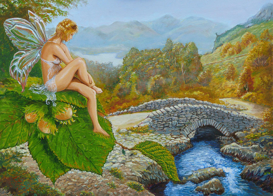 Celtic Painting - Ashness Faery by Tomas OMaoldomhnaigh