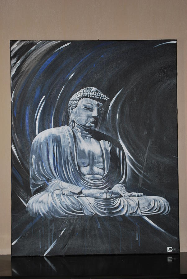 Buddhist Painting - Ashoka The Buddhist  by Dadi Artist