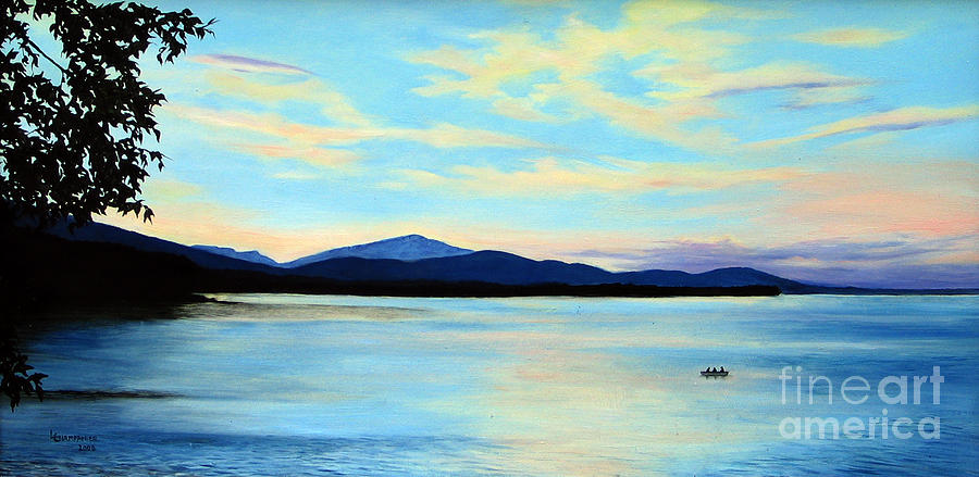 Landscape Painting - Ashokan Light by Linda Champanier