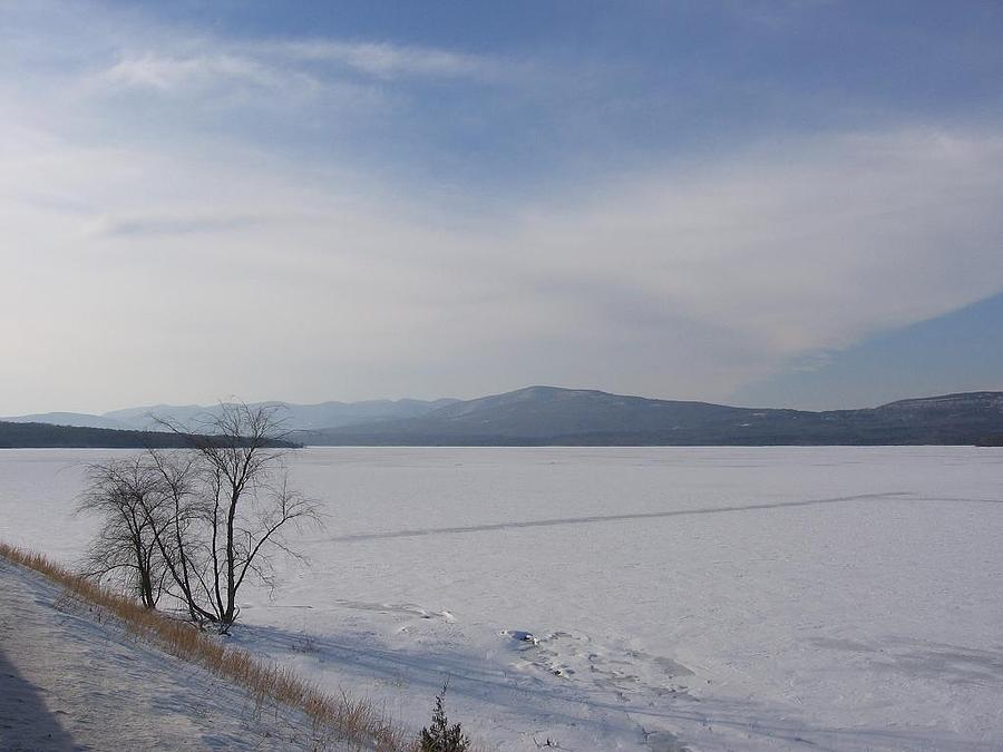 Landscape Photograph - Ashokan Res I Snow Country by Beth Temple