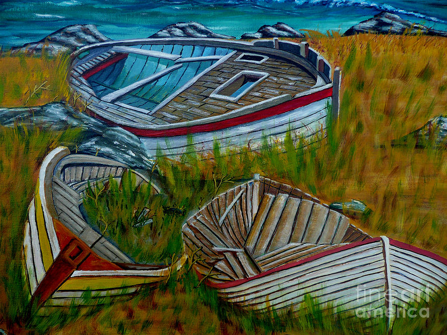 Sea Painting - Ashore For Good by Anthony Dunphy