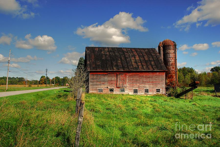 Barn Photograph - Ashtabula County Barn by Tony  Bazidlo