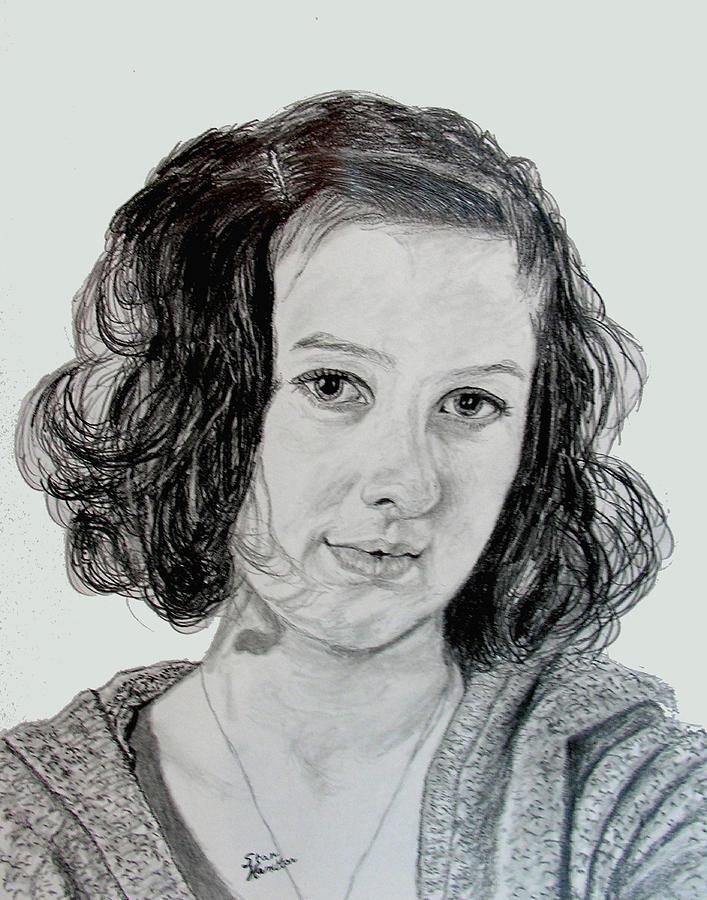 Pencil Drawing - Ashton by Stan Hamilton