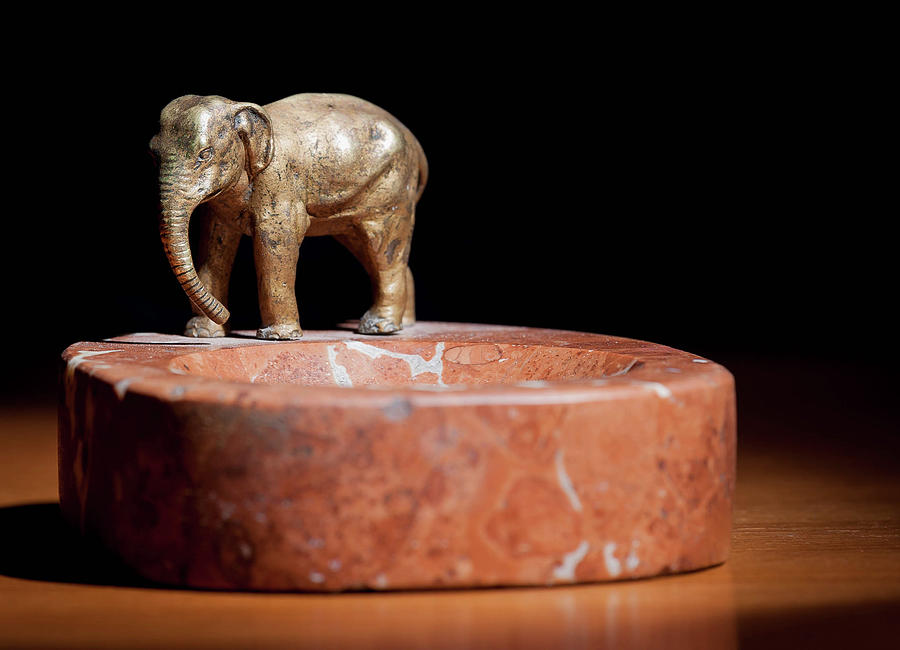 Ashtray Photograph - Ashtray With Elefant by Stefan Rotter