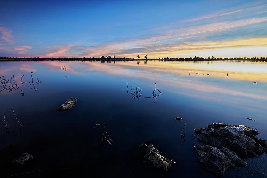 Jon Glaser Photograph - Ashurst Lake Sunrise by Jon Glaser