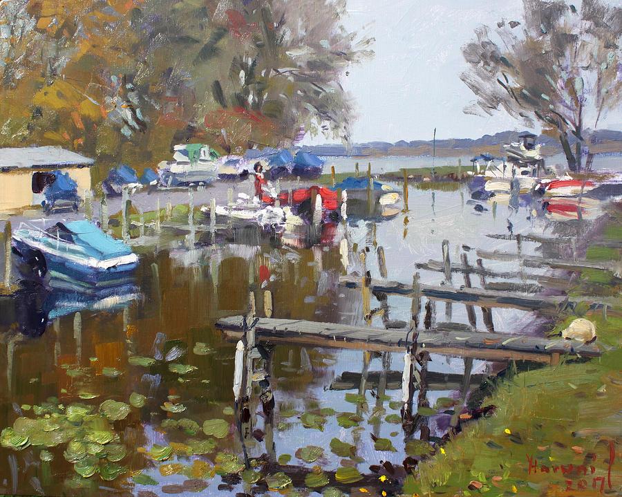 Ashville Painting - Ashville Bay Marina by Ylli Haruni