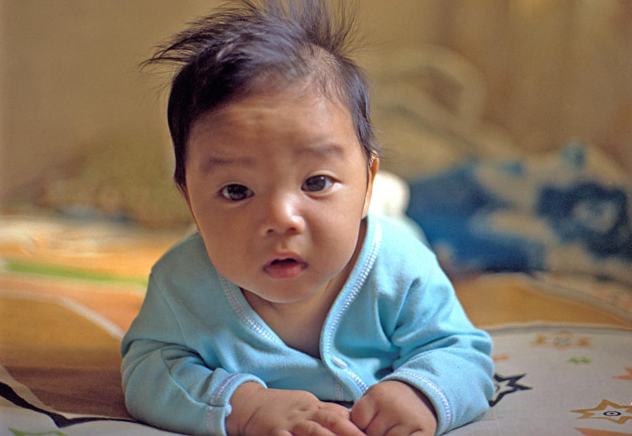 Baby Photograph - Asian Baby by Atul Daimari
