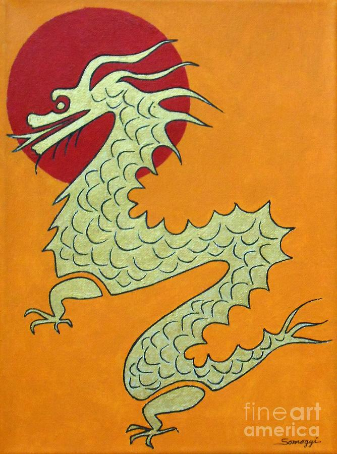 Asian Dragon Icon No. 1 by Jayne Somogy