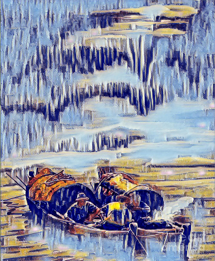 Asian Painting - Asian Fishermen by Lita Kelley