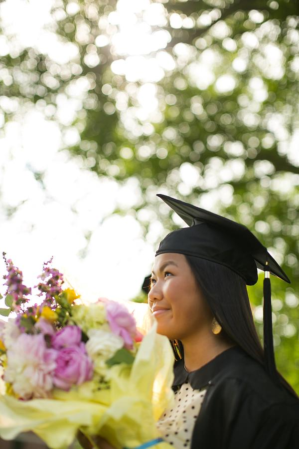 Achievement Photograph - Asian Girl In Graduation Cap by Gillham Studios