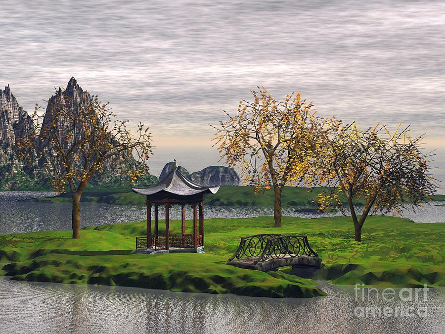 asian landscape digital art by john junek