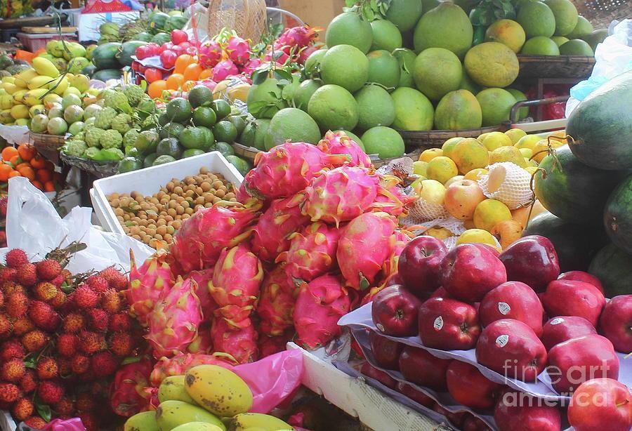 Asian Market, Exotic Fruits Photograph