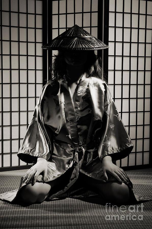 Asian Photograph - Asian Woman In Kimono by Oleksiy Maksymenko