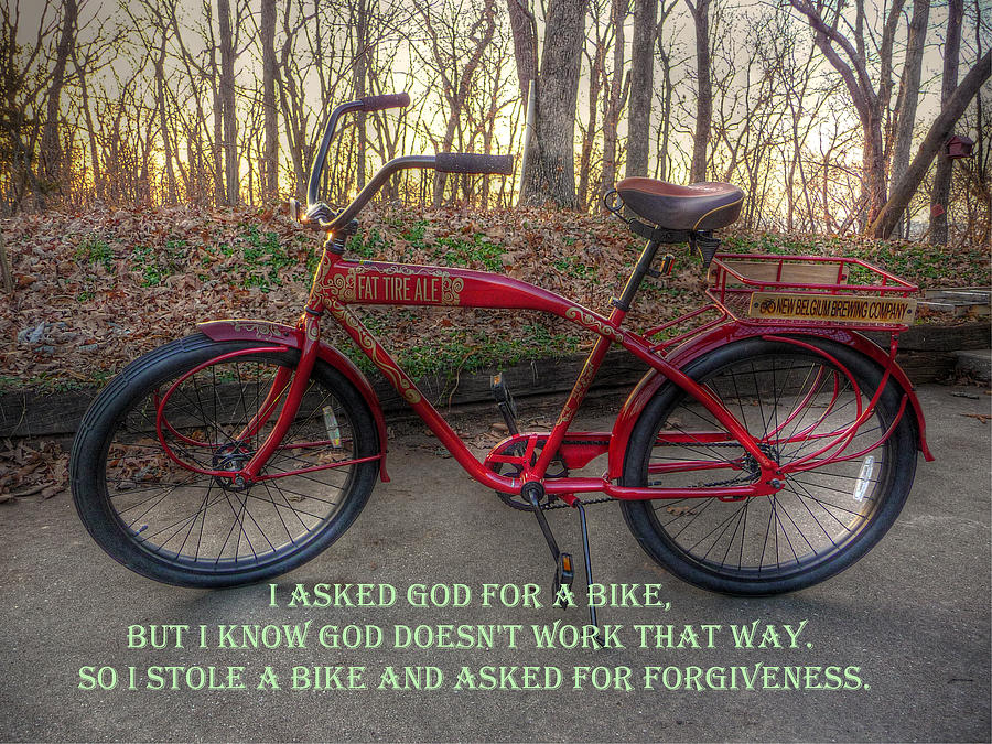 Asked For A Bike Photograph - Asked For A Bike by William Fields