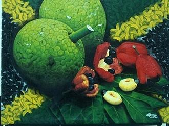 Fruits Painting - Ackee And Breadfruit  by Aldain Barrett