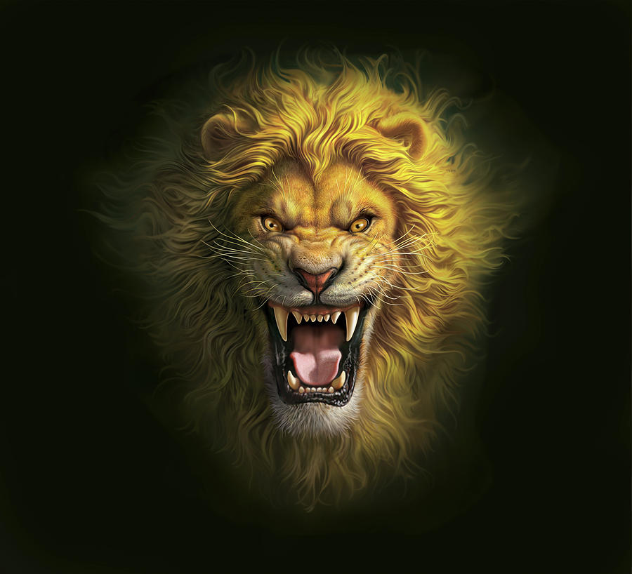 Aslan Digital Art By Mark Fredrickson