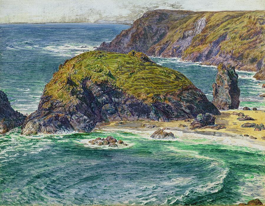 Asparagus Painting - Asparagus Island by William Holman Hunt