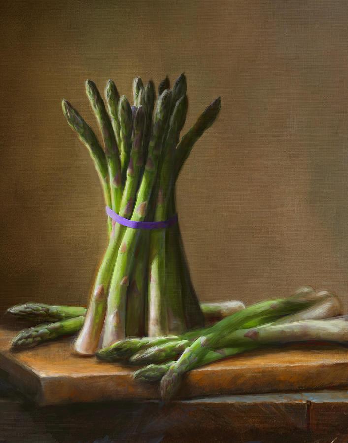 Robert Papp Painting - Asparagus  by Robert Papp