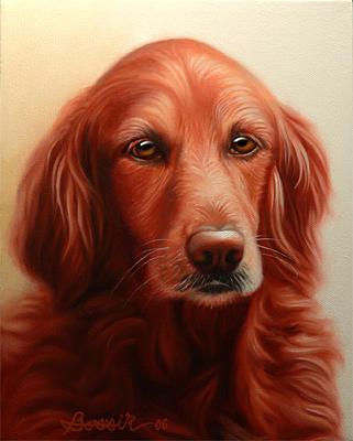 Pet Portrait Painting - Aspen by Eric Bossik