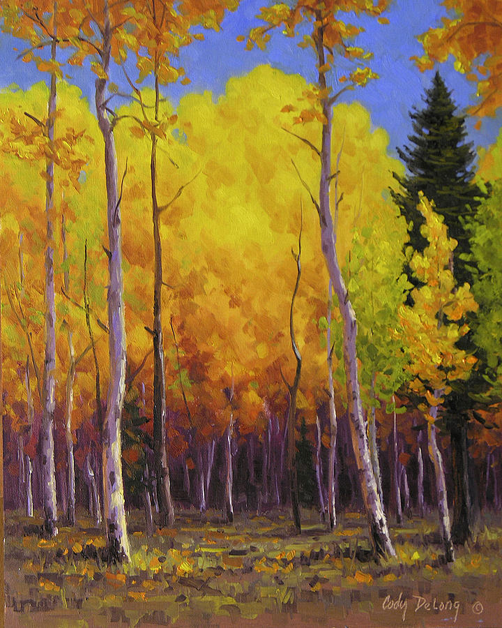 Landscape Painting - Aspen Glow by Cody DeLong