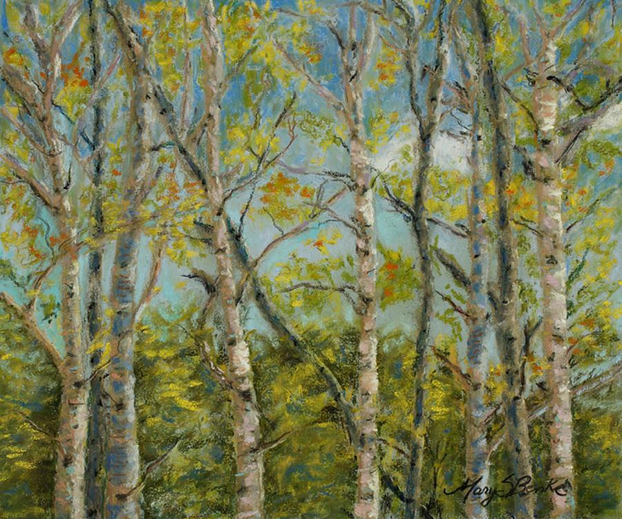 Aspens Pastel - Aspen Glow by Mary Benke