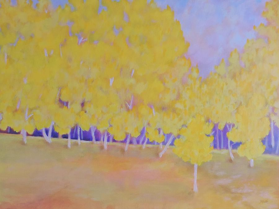 Colorist Painting - Aspen Hill by Margaret Bobb